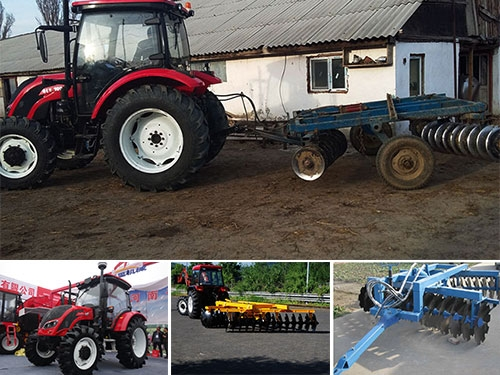 100hp Agricultural Tractor with Disc Harrow