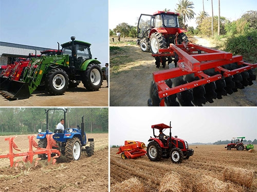 Wheeled Tractor With Farm Implements for Your Land